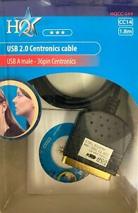 GOLD PLATED USB TO 36 PIN CENTRONICS PRINTER LEAD CABLE FOR PARALLEL PRINTERS