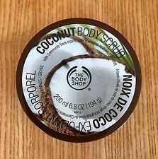 THE BODY SHOP COCONUT BODY SCRUB 6.8 OZ, FULL SIZE, NEW, FREE SHIPPING TO USA!