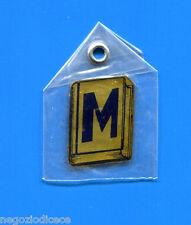 """KICA - Sorprese Decalcomania Figurina-Sticker anni 60 - LETTERA """"M"""" RETTANGOLARE"""