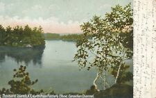 THOUSAND ISLANDS NY – Canadian Chanel North from Fiddler's Elbow - 1910