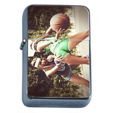 Hot Basketball Babes Rs1 Flip Top Oil Lighter Wind Resistant With Case