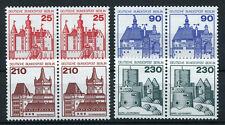 Berlín 587/9 castillos & cerraduras ** - waagrechte parejas