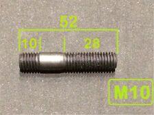 1 Stück Stehbolzen Stiftschraube DIN 939  M10x50 , M10x52  8.8 schwarz