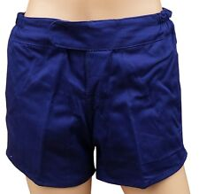 """TUFTEX 100% Cotton Heavyweight Rugby Shorts French Navy Blue 28"""" White Tie Cord"""