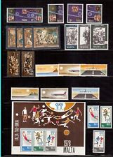 MALTA 1978 COMPLETE YEAR 22 STAMPS + 1 S/S MINT LIGHTLY HINGED !!