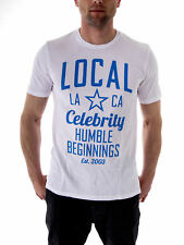 Local Celebrity T-Shirt Humble Beggings White round Neck short Sleeve