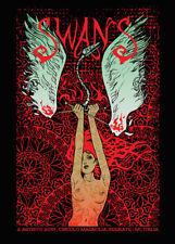 SWANS Milan 2017 silkscreened poster by Malleus