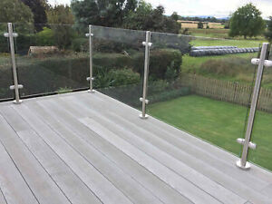 10mm CE Toughened Safety Glass Panels for Balustrade Posts Landing Balcony
