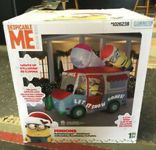 Minions Despicable Me Inflatable Snow Cone Holiday Truck Swirling Kaleidoscope