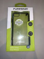 PureGear Slim Shell Case for Apple iPhone 7- Clear/Black
