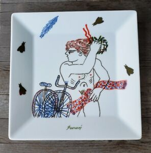 Rare Greek Porcelain Cycling Trophy Plate - Male Nude