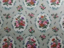 Unused vintage cotton sateen Cravendale floral fabric - 'Sonning' - 1M lengths