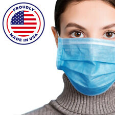 Made In USA 50 PCS Face Mask Mouth & Nose Protector  ASTM LEVEL 3 =Highest Grade