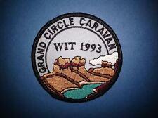 Grand Circle Caravan WIT 1993 Hat Jacket Biker Vest Backpack Travel Patch Crest