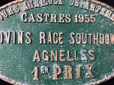 Plaque Concours Agricole Départemental Albi Tarn 1955 Agnelles 1er Prix