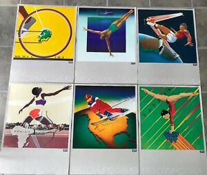 Set of 6 Levi's 1980 Moscow Olympic Games Posters