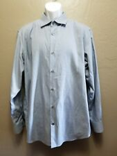 BANANA REPUBLIC Mens Button Down Dress Shirt Size 17-17 1/2 X-Large blue & white