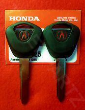 2 NEW GENUINE ACURA HONDA Master Key Blank Acura Integra 86-89 & Legend 86-95