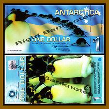 Antarctica $1 Dollar, 23 November 2007 Polymer Unc