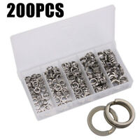 200* Rings Wire Split Ring Strong Fishing Connectors Stainless Steel Fittings