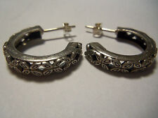 Awesome Sterling Silver 925 Earrings half loop Butterfly Clasps 5.75g