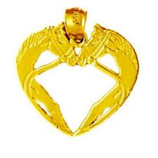 14k Yellow Real SOLID Gold Sign of the horns Spirit hands Good luck charm 1.9gr