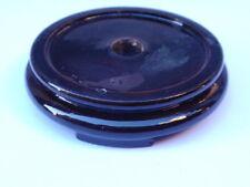VINTAGE Oriental Black intagliati legno Vaso Ciotola Trofeo Figura visualizza Supporto Base di e