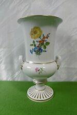 Meissen exklusive große Amphoren Vase Bunte Blume mit Goldrand 1.Wahl .....Top !