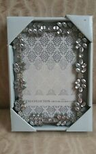 Luxe Collection Silver 4x6 Photo Picture Frame Bling Wedding Holiday