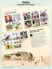 #9826A 32c Celebrate the Century 1930s #3185 Souvenir Page
