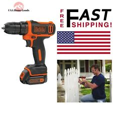 "BLACK+DECKER Cordless Drill 3/8"" 12-V MAX Lithium-Ion Variable Speed W/ Charger"