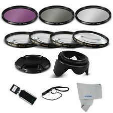 Lens Filter & Close Up Macro Kit for Canon Rebel 1100D 650D 600D 550D 450D T3I