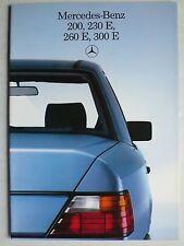 Prospekt Mercedes W 124: 200, 230 E, 260 E, 300 E, 11.1985, 36 S. holländisch