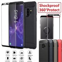 Samsung Galaxy S9 S9 Plus + Rugged TPU Case Cover & Tempered Glass LCD Protector
