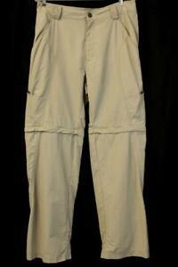 "CLOUDVEIL Tan CONVERTIBLE Pants Shorts 32"" Inseam Hiking Trail Outdoor Mens 32"