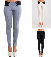 Women Ladies Girl High Waist Tights Skinny Pencil Pants Jeans Casual Trousers