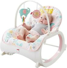 Pink Baby Rocker Infant Toys Play Toddler Seat Chair Soothing Sleeper Vibrating