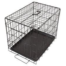 "24"" Faltbarer Hundekäfig Transportkäfig Drahtkäfig Tierkäfig Hundebox Käfig"