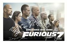 FAST & FURIOUS 7 AUTOGRAPHED SIGNED A4 PP POSTER PHOTO 1