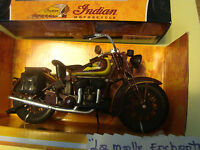 MOTO MINIATURE INDIAN SPORT SCOUT MOTORCYCLE 1/12° NEW NEW RAY