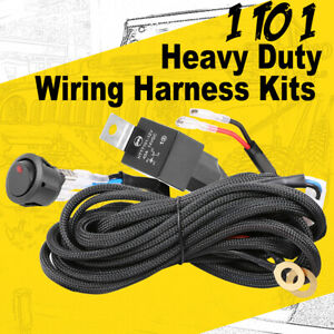 LED Light Bar Wiring Loom Harness Kit ON-OFF Rock Switch Relay Fuse 12V CAR 4WD