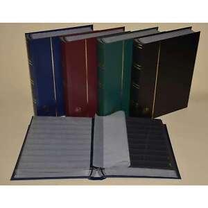 Briefmarkenalbum, Einsteckbuch, Einsteckalbum, 60 schwarze Seiten