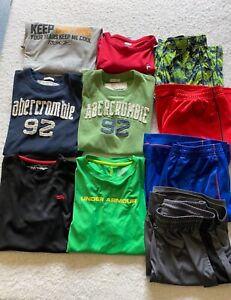 Lot of Boy's Clothes Size 14/16 Nike Under Armour Abercrombie Fila