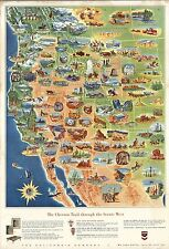 1960 pictorial map Chevron Trail through the Scenic West POSTER 8898000