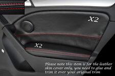 RED Stitch 2x POSTERIORE PORTA CARD Trim pelle copre gli accoppiamenti VW GOLF MK6 VI 08-13 e