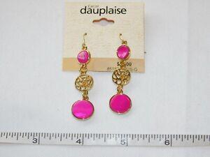 Carol Dauplaise Ladies Women's 1 pair Earrings Gold Tone 85152P-FUS-G NEW NOS