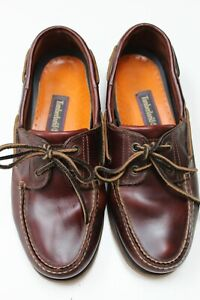 Timberland brown leather deck shoes size US 9.5, UK 9