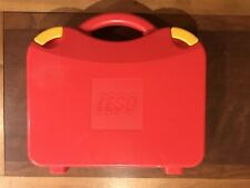2012 Lego Brand Travel Carrying Case Box Storage Container Dividers Two Tone Red