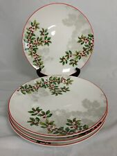 Lenox HOLIDAY Holly Knoll/Set of 4 Dinner Plates / NEW IN BOX