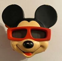 VINTAGE 1989 MICKEY MOUSE 3D VIEW MASTER ~ RED & BLACK THE WALT DISNEY COMPANY